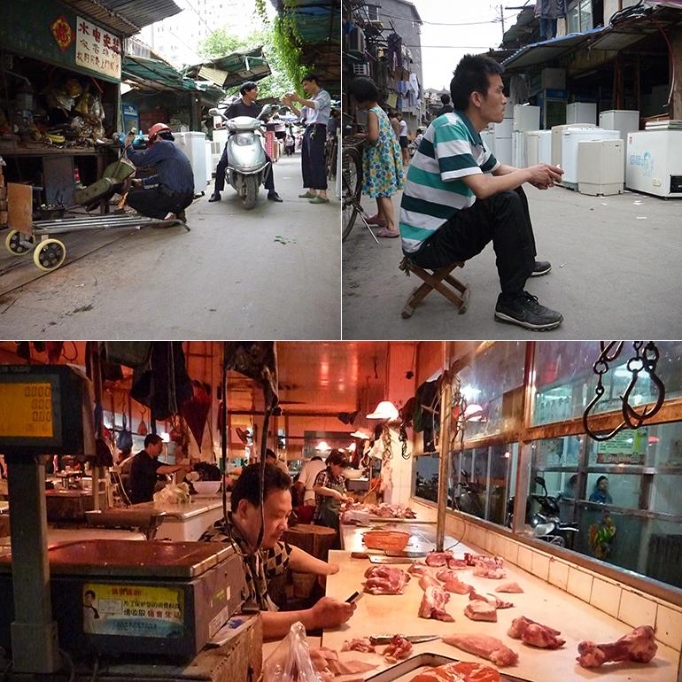 Een klein dorp als koopcentrum voor de gewone Shanghainees.