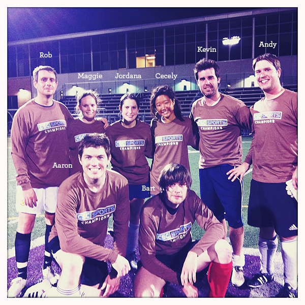 The Gleeful Unicorns: Minneapolis City Sport Councilship Coed Soccer Champion of 2011.