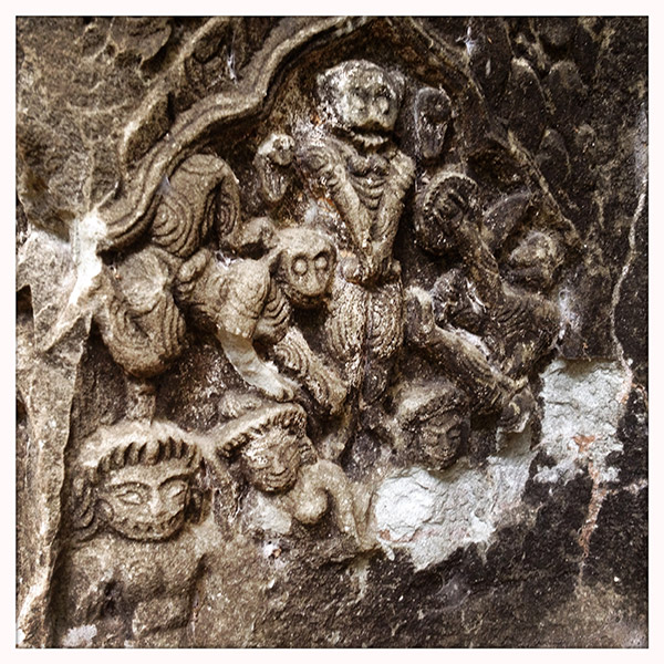Cambodja - Siem Reap - Beng Mealea - beeldhouwwerk