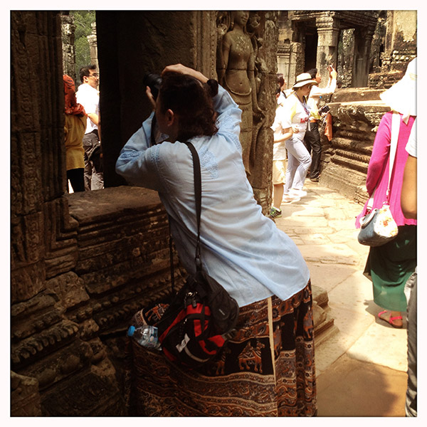 Cambodja - Siem Reap - Ankor Wat - toeristen