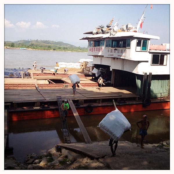 Chiang Saen - haven aan de Mekong