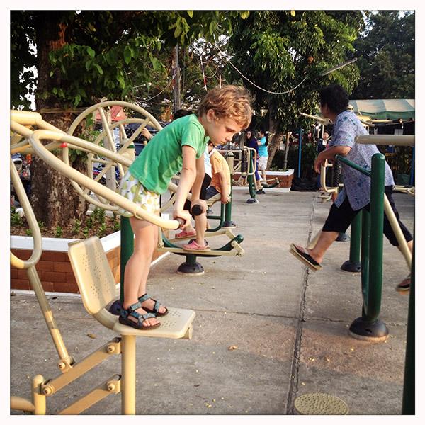 Chiang Saen - Fitness aan de Mekong