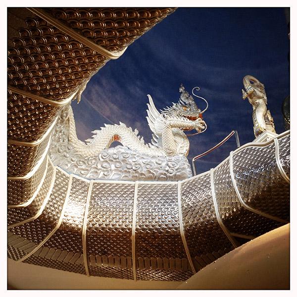 Thailand - Tha Ton - tempel - trap met Naga