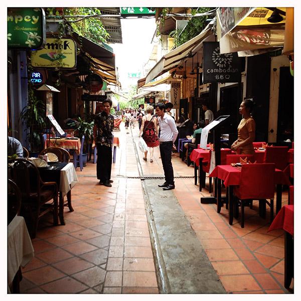 Cambodja - Siem Reap - markt - Rue de Boucher